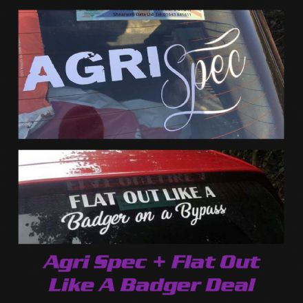 Agri Spec + Flat Out like a Badger Decal Deal